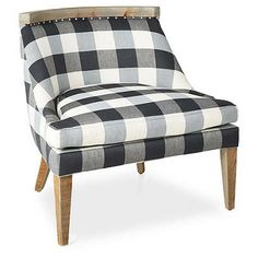 If you're ready to make a bolder pattern statement, this sweet Sarah Accent Chair, Dark Gray Gingham is a great way to do that. Object of the Week: Gingham Reclaimed Wood Frames, Furnishings, Side Chairs, Occasional Chairs, Home Furniture, Accent Chairs, Upholstery, Chair, Furniture