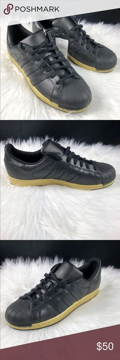 newest collection 10341 e407f Shop Men s adidas Black Gold size 11 Sneakers at a discounted price at  Poshmark. Description  ADIDAS SHELL TOE SUPER STAR Men s Brand new with out  box with ...