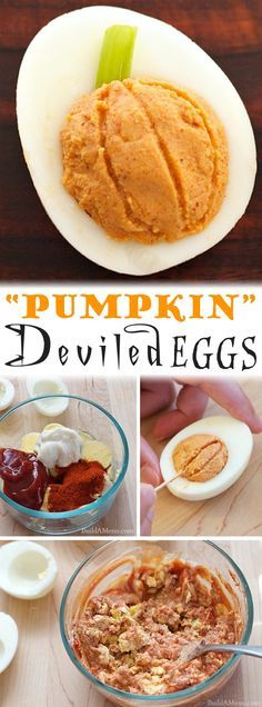 Easy Halloween Party Appetizers (Deviled Eggs 8 Ways) Creepy - halloween party treats ideas