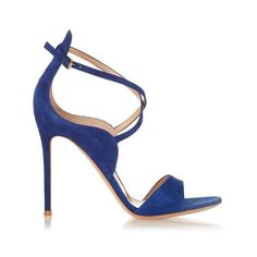Gianvito Rossi Sisely suede sandals (29.305 RUB) ❤ liked on Polyvore featuring shoes, sandals, blue, suede sandals, ankle wrap sandals, blue suede sandals, ankle strap shoes and blue ankle strap shoes