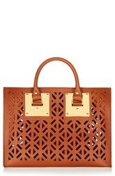 Sophie Hulme Perforated Leather Bowling Bag