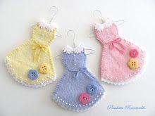 """3"""" girlie dress ornaments"""