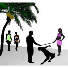 Hawaiian Luau Party Games - Crab football & body paint.