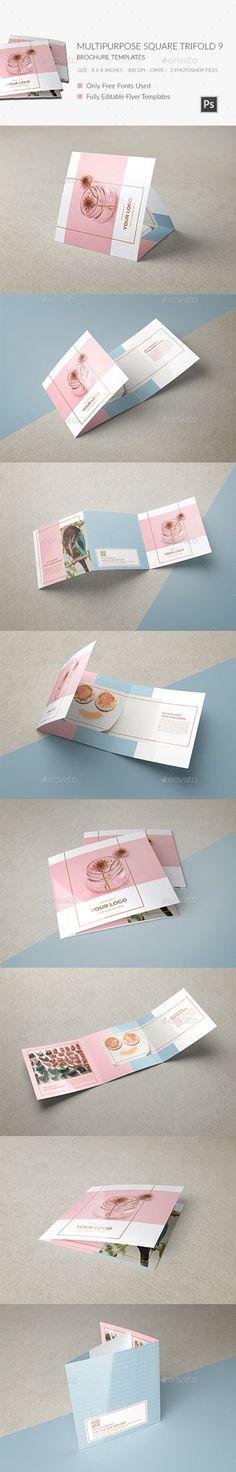 ► [Get Free]□ Multipurpose Square Trifold Brochure Blue Brochure Clean Design Free Free Use Design Brochure, Brochure Layout, Flyer Design, Layout Design, Print Design, Brochure Template, Leaflet Layout, Leaflet Design, Pamphlet Design