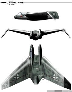 In August 1944 the Gotha Aircraft Company was given the job of series production of the Horten brothers' Ho IX all-wing fighter, which would be kno. Ww2 Aircraft, Fighter Aircraft, Military Aircraft, Fighter Jets, Luftwaffe, Delta Wing, Flying Vehicles, Focke Wulf, Experimental Aircraft