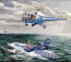 Nueve G's Coast Guard Rescue, Navy Coast Guard, Military Helicopter, Military Aircraft, Military Art, Military History, Sikorsky Aircraft, Navy Carriers, Airplane Art