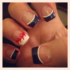 "Baseball nails  ""Take me out to the Balllllgame"""