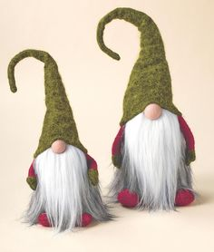 """Jultomten! Sweden's Santa Claus, Jultomte visits households on Christmas Eve afternoon to hand out presents to children. A family member will dress up as Jultomte and ask, """"Are there any good children here?"""" Enchanting plush figures are rayon wool felt with poly fill and weighted bottoms to stand upright.- Acorn Online"""