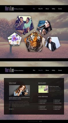 Template 49128 - Photographer Portfolio Photo Gallery Template