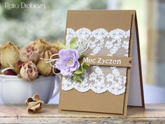 lace craft card