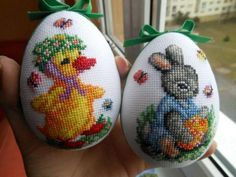 Cross Stitch Bird, Counted Cross Stitch Patterns, Cross Stitching, Cross Stitch Embroidery, Cross Stitch Beginner, Cross Stitch Finishing, Bead Crafts, Diy And Crafts, Easter Egg Designs