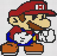 Mario Perler Bead Pattern / Bead Sprite