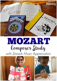 Zeezok has a fabulous music curriculum that's great for beginning a Mozart composer study for kids! Check out our review! Music Activities For Kids, Music Lessons For Kids, Music Lesson Plans, Music For Kids, Piano Lessons, Mozart For Kids, Piano Teaching, Teaching Kids, Learning Piano