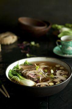 Duck, Chilli, Ginger Noodle Broth via food-monger.com