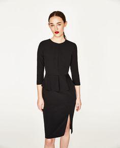 Image 2 of PEPLUM TUBE DRESS from Zara