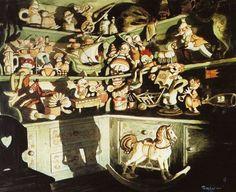 Concept art for Pinocchio ~ Gustav Tenggren