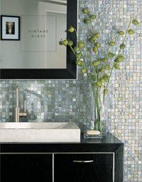 Vintage Glass on walls 1x1 inch tile sheet, Walker Zanger