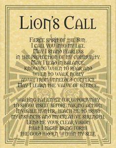 llamado del león
