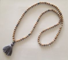 Obsessed! Amazing Jasper Stone Tassel Necklace on Etsy, $80.00 See this one plus more at www.theArtsyNomad.etsy.com
