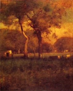 "George Inness, American  (1825-1894) California Oil on canvas 1894 152.4 x 121.92 cm (59¾"" x 47¾"")"