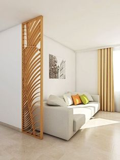 Looking for dividers that are both design and original? Look at our creations, and order your screens and trellises at home. Decor, Built In Furniture, Home Room Design, Room, Room Design, Small Space Interior Design, Living Room Modern, Home Deco, Room Partition Designs