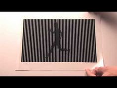 "video of moving optical illusions-- ""decoding"" into movement, interaction"