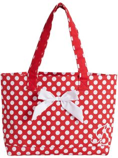 b7cae76f94d1 Jessie Steele Tote Bag with Bow Red and White Polka Dot