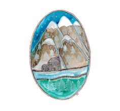 Hey, I found this really awesome Etsy listing at https://www.etsy.com/listing/168871711/oval-original-landscape-snow-capped