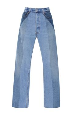 RE/DONE Ultra High Rise Straight Leg Patchwork Jeans. #re/done #cloth #jeans