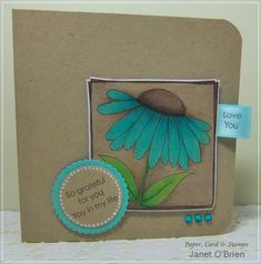 So grateful for you in my life by Janet72 - Cards and Paper Crafts at Splitcoaststampers