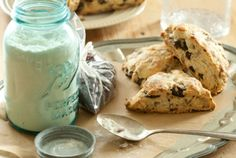 Dried Cherry Pecan Scones // The combination of sweet-tart dried cherries and rich pecans makes for a delicious batch of scones!