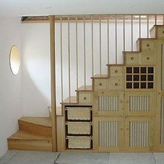 space saving staircase design with storage drawers