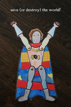 Superhero paperdolls... Instead, I see us making ~all~ the Star Wars characters this way.  Fun!