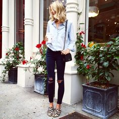 denim on denim with leopard