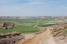 Camino de Santiago, a pilgrimage trail across the north of Spain from the Pyrenees Mountains to Santiago De Compostela