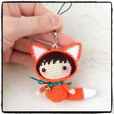 Купить Лисичка вязаная - куколка амигуруми - рыжий, рыжий лис, девочка, девочка куколка, лисичка