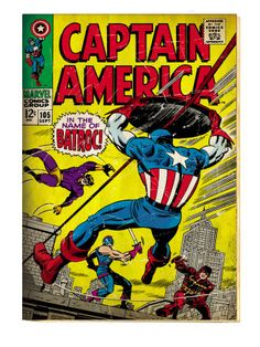 Marvel Comics Retro: Captain America Comic Book Cover #105, Batroc (aged)