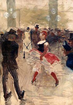 Toulouse-Lautrec - A l'Elysee, Montmartre: 1888