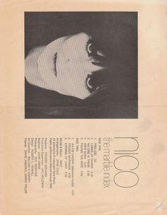 Velvet Underground - Nico - Nico Handwritten Notes on Marble Index Flier - Recordmecca