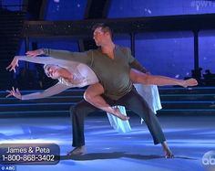 Good move: James and Peta danced to Let It Go from Frozen