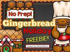 I hope you and your students enjoy this FREE GINGERBREAD activity set! Just a little something to say THANK YOU! for all the hard work you do! Everything is NO PREP so they are ready for you to print and go! :)  Gingerbread activities include:  Gingerbread Label the Picture (2 versions) Gingerbread ABC Order Build the Sentence  Graph It!