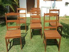 Cadeiras de cedrinho.
