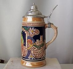 Vintage Gerz Beer Stein Made in Germany by CynthiasAttic on Etsy