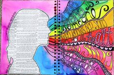 Inspiration Everywhere: New Art Journal Pages...