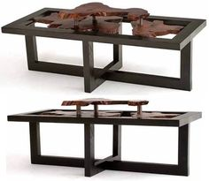 Framed Live Edge Coffee Table With Floating Slab Item Ct03153 Also Available In