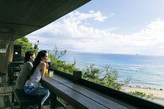 BRILLIANTE MOTOBU HILLS テラス席 Garden Cafe, Reading Nook, Okinawa, Hotels And Resorts, Surfboard, Terrace, Villa, House Design, Japanese