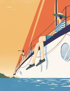 La raffinata illustrazione di David Doran per Timberland Boat Shoe   Collater.al