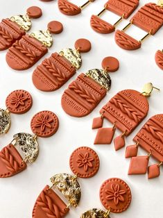 Polymer Clay Projects, Polymer Clay Creations, Polymer Clay Crafts, Handmade Polymer Clay, Polymer Clay Earrings, Diy Earrings Kit, Polymer Clay Flowers, Clay Design, Bijoux Diy