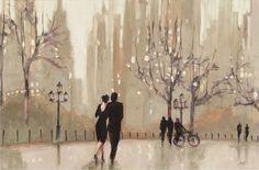 Trademark Art An Evening Out Neutral' by Julia Purinton Framed on Canvas & Reviews | Wayfair