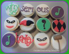 Mr J, Harley and B-man cupcakes! I want these for my birthday...